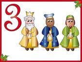 12 days of christmas: 3 magi — Stock Photo