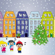 Stock Photo: City at christmas