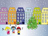 City at christmas — Stock fotografie