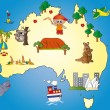 Royalty-Free Stock Photo: Australia map