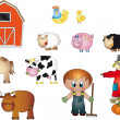 Stock Photo: Farm icons