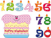 Cake birthday — Stock Photo