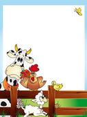 Animals card — Stock Photo