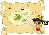 Tresure mapa — Fotografia Stock