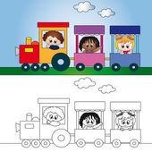 Ilustração de trem — Fotografia Stock