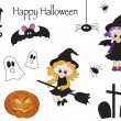 Halloween icons — Stockfoto