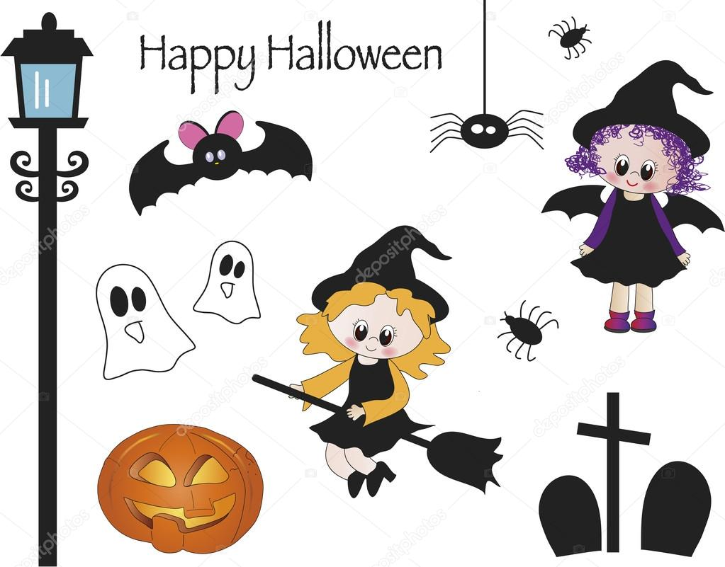 Halloween icons illustration  Stock Photo #13129834