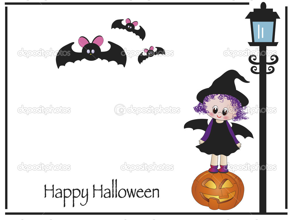 Halloween card illustration  Stock Photo #13129847