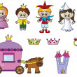 Princess icons — Stock Photo
