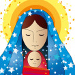 Mary and jesus — Stockfoto