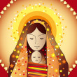 Foto Stock: Mary and jesus