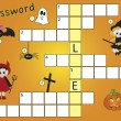 Crossword halloween — Stock Photo