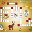 Crossword christmas — Stock Photo