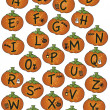 Foto Stock: Alphabet halloween