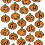 alfabetet halloween — Stockfoto