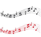 Musical Notes and Staff — Stock Photo