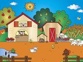 Farm cartoon — Stock Photo