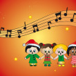 Christmas carols — Stock Photo
