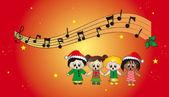 Christmas carols — Stock Photo