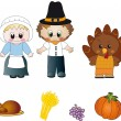 Thanksgiving icons — Stock Photo