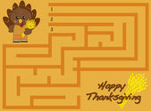 Thanksgiving maze — Stock Photo