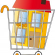 Stock Photo: Shopping home