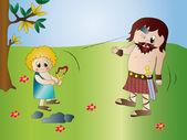 David and Goliath — Stock Photo