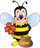 Bee illustration — Stock Photo