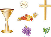 Symbols of christianity — Stock Photo