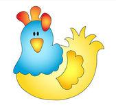 Cock illustration — Stock Photo