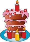 Cake illustration — Stock Photo