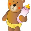 Stock Photo: Baby teddy bear