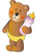 Baby teddy bear — Stock Photo