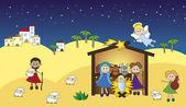 耶稣降生 — 图库照片