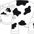 Cow illustration — Stock Photo