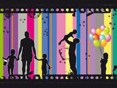 Family silhouette — Stock Photo