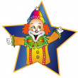 Clown illustration — Stock Photo