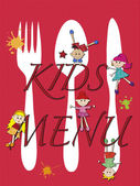 Menu kids — Stock Photo