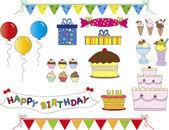 Birthday set — Stockfoto