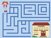 Maze illustration — Stock Photo
