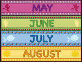 May june july august — Stock Photo