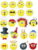 Smile icon set — Stock Photo