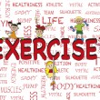 Exercise — Stockfoto