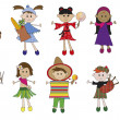 Children illustration - Stock Photo