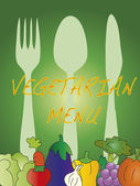 Menu vegetariano — Fotografia Stock