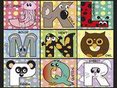 Animal alphabet — Stock Photo