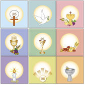Religion icons — Stock Photo