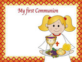 First communion — Stock Photo