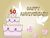 50 th anniversary — Stock Photo