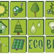 Ecology icons - Stock Photo